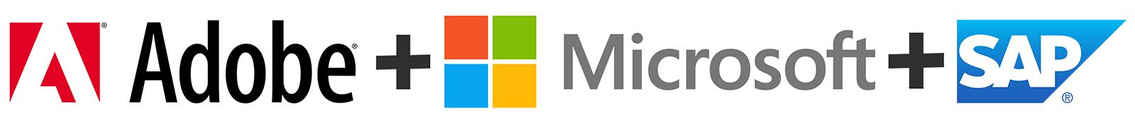 adobe +Microsoft + sap